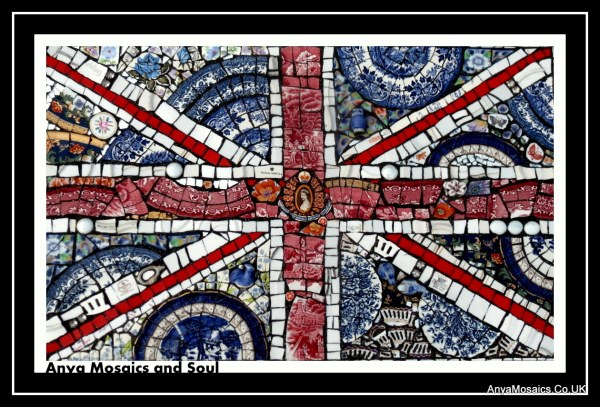 Union Jack Queen on a plate