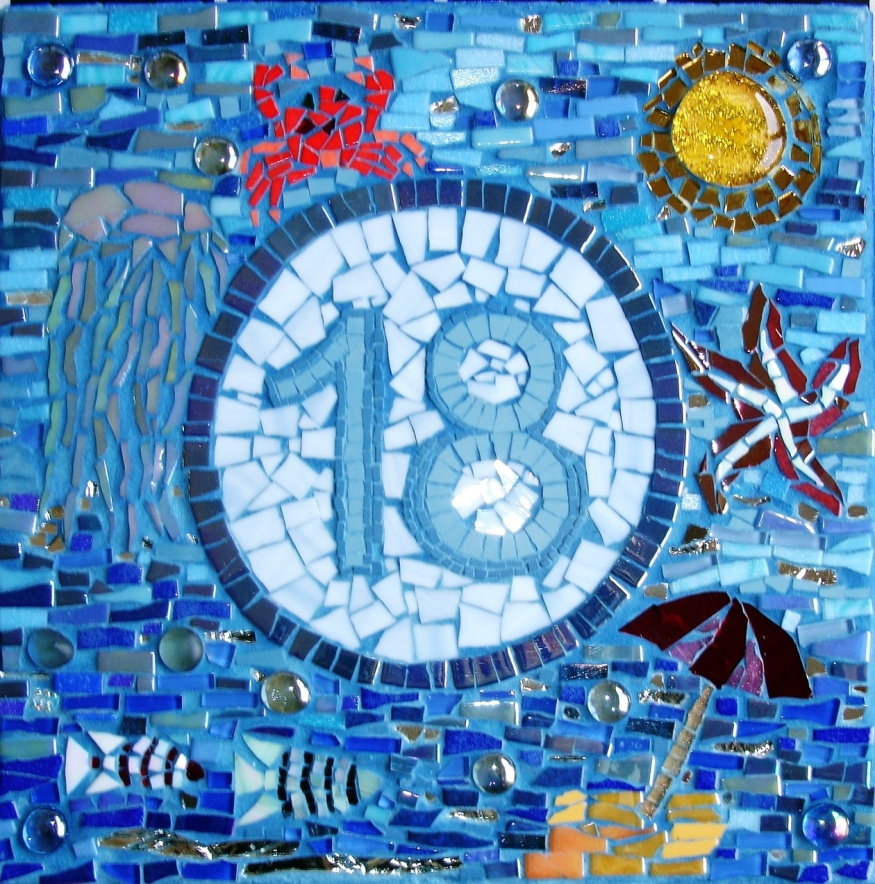 Mosaic House Number And Name Anya Mosaics Amp Soul